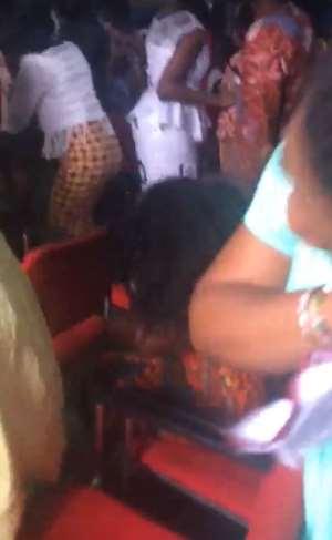 Church members dancing to Medikals 'Omo Ada'