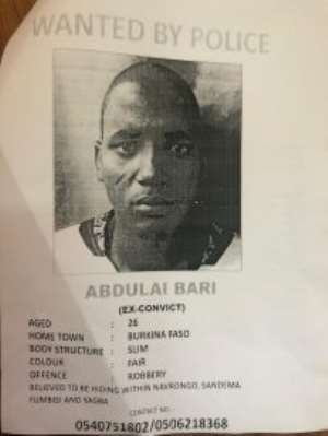 Police On The Heels Of Wanted Burkinabe Robber In Upper East