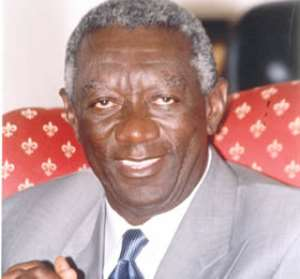 Kufuor returns home after meeting Bush
