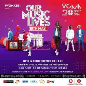 20th Vodafone Ghana Music Awards Celebrations Set