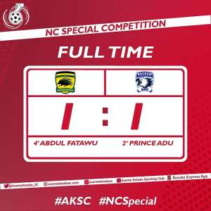 NC SPECIAL COMPETITION: Bechem United Holds Kotoko To A 1-1 Draw At Baba Yara