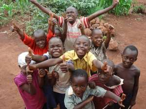 In the midst of poverty and hunger, African children are always happy