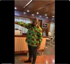 Watch How Prez. Akufo Addo Celebrated Totteham's Comeback Against Ajax In UCL Semis [VIDEO]