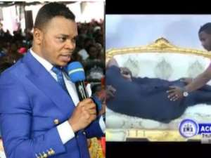 'Receive Your Husband'—Obinim Kisses Female Member In Church