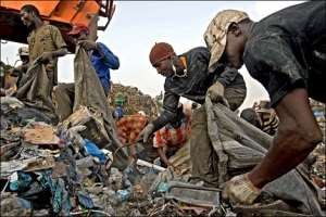 Scavengers looking for 'treasures and diseases' from foreign waste dumped in Africa