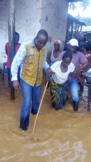 Lower Axim Nkosuohene Consoles Axim Flood Victims