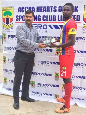 'Defiant' Hearts reward Vincent Atinga as Fero Mobile Player of the Month for May