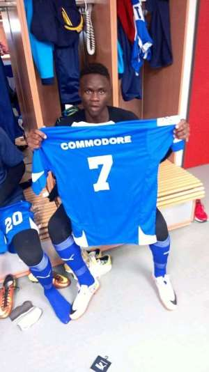 African Giant Rayon Sports Sign Ghanaian International Olokwei Commodore