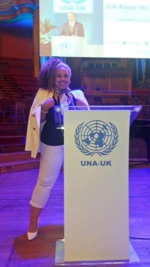 Legendary Kofi Annan Lives On, As Miss-K Attends U.N