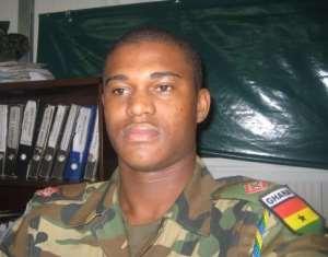 Major Maxwell Adam Mahama one of the national hero helping to kill Galamsey Snake.