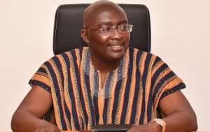 Smiling Vice President of Ghana, Dr. Bawumia, he doesn't know what suffering is like
