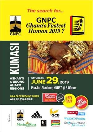 GNPC Ghana Fastest Human 2019 Hits Kumasi, June 29 At KNUST