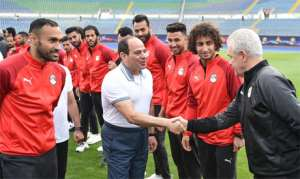 AFCON 2019: Egypt President Visits National Team Ahead Of AFCON