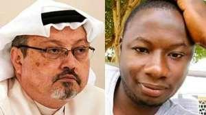 Killed journalists, left, Khashoggi and right, Hussein-Suale