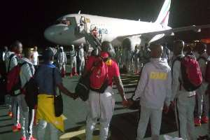 AFCON 2019: First Set Of Black Stars Contingent Arrive In Abu Dhabi; Full House Expected On Monday