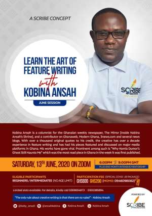 Kobina Ansah Teaches The Secrets Behind His Features This June