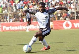 TP Mazembe midfielder Torric Jebrin [One of the stranded players in D.R Congo