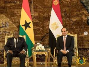 AFCON 2019: Nana Addo Arrives In Egypt; Set To Meet Black Stars Before Benin Clash