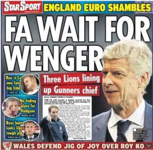 Today's newspaper gossip: Wenger tops FA list for England job; Chelsea lead Batshuayi race