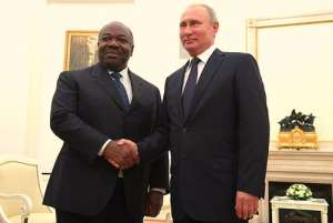 Ali Bongo of Gabon and Vladimir Putin