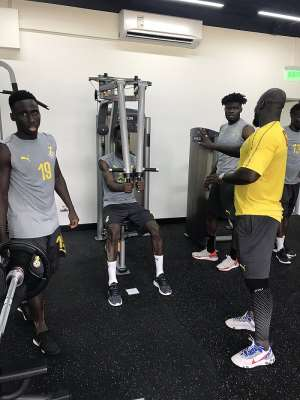 VIDEO: Black Stars Step Up Preparations With Gym Work To Boost Fitness Level