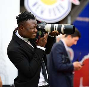 Injured Gideon Baah makes himself useful as guest photographer for New York Red Bulls