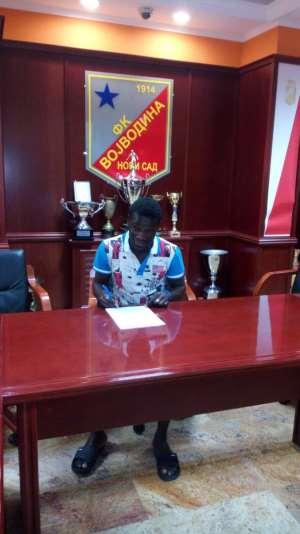Former Bechem United striker Francis Afriyie handed 3-year deal by Serbian side FK Vojvodina