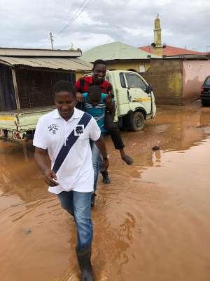 Mohammed Adamu Ramadan Visits Flood Victims In The Adentan Constituency