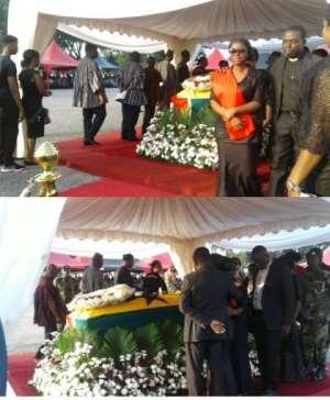 Ghana in solemn anguish as thousands bid Major Mahama farewell