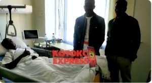 Richard Senanu Undergoes Successful Surgery In Germany [VIDEO]