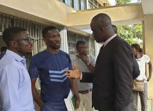 Two ModernGhana journalist with Samson Lardy Anyenini