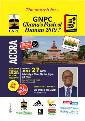 GNPC Ghana Fastest Human To Rock Accra On July 27