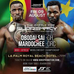 Obodai Sai (Ghana) vs Katembo (DR Congo) On August 9