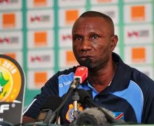 D.R Congo head coach Florent Ibengé