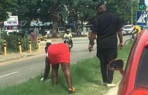 Woman Forced To Clean Street For Littering