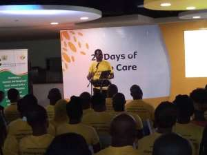 21 Days Y'ello Care: MTN Boss Commends Staff For Equipping Youth With Skills