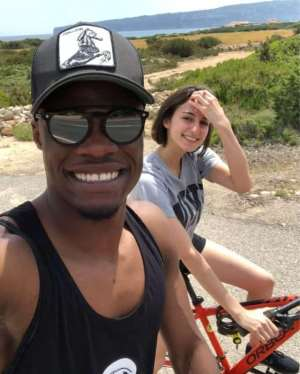 Caleb Ekuban Spotted Enjoying With Partner Fappani Alice After Sending Ghana Packing From AFCON