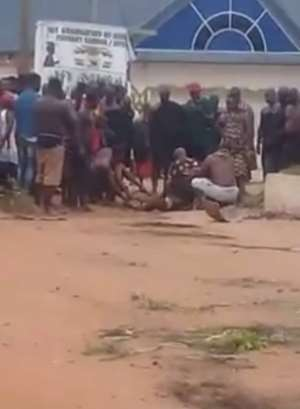 Police say after analysing the content of the video, they came to the conclusion that it was a ram that was being killed.