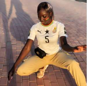 AFCON 2019: Meet The Lady Who Caused Mayhem At The Camp Of Black Stars In Egypt [PHOTOS]
