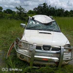 Karaga District Coordinator's Official Vehicle Destroyed In An Accident
