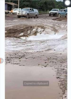 Tarkwa: A far cry of a mining community; full of terrible roads.