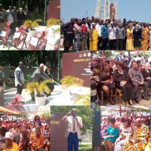 Wreath laying for PANAFEST/Emancipation Day held