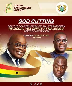 Akufo-Addo To Cut Sod For North East YEA Office