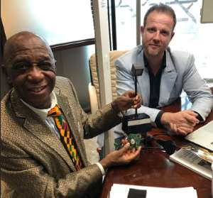Dr Thomas Mensah Attends A Board Meeting On Li Fi Technology In Dubai