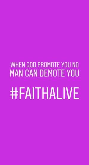 Maintain your faith