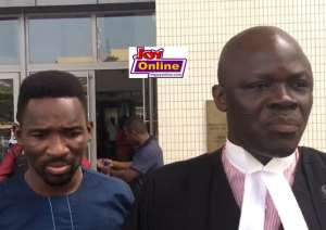 Lawyer for Emmanuel Adjarfo, Samson Lardi Anyenini (right), says this confirms his position that his client had not committed any crime.