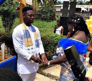 The Editor of ModernGhana news, Mr. William Beeko, and his bride, Angelina Acheampomaa