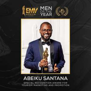 Abeiku Santana Wins Special Recognition Award In Tourism At The 2020 EMY Africa Awards