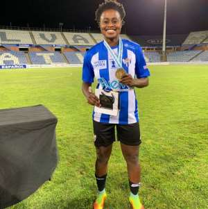 Princella Adubea Win First Trophy With Sporting Club Huelva