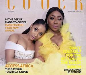 Adesua Etomi Wellington and Dakore Egbuson Akande Are Breathtaking In the August Edition of Accelerate TV's Online Magazine; The Cover